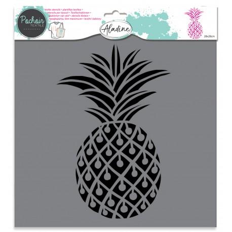 Textile stencil - pineapple