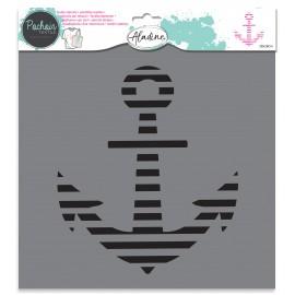 Textile stencil - anchor