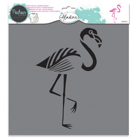 Pochoir textile Flamant rose