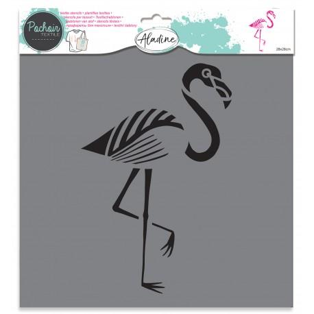 Textile stencil - flamingo