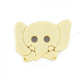 12 mm Marelle collection elephant wooden button - natural