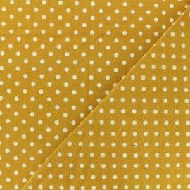 Tissu Flanelle Petit pois - jaune moutarde