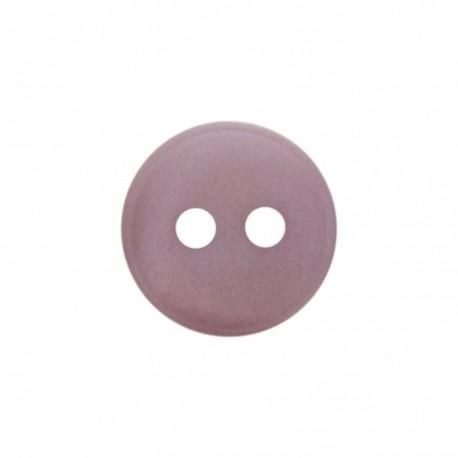 Bouton polyester aspect nacre Origine - prune