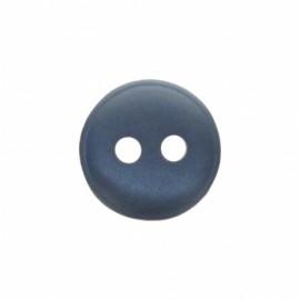 Bouton polyester aspect nacre Origine - bleu gris