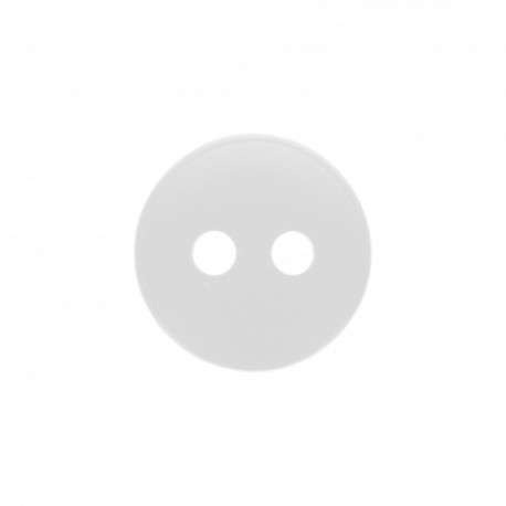 Bouton polyester mat Alcalis - blanc