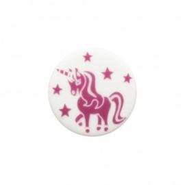 Licorne enchantée polyester button - purple