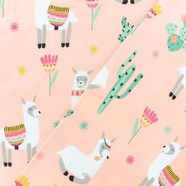 Oeko-tex Jersey fabric - Lama pink x 10cm