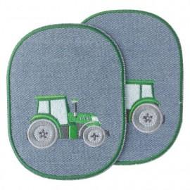 Coudières genouillères thermocollantes Tracteur - vert