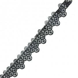 Lace guipure - black Scallop x 1m