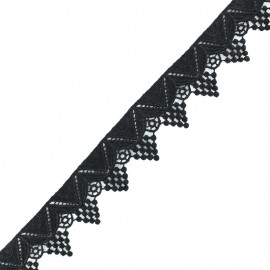 Ruban guipure dentelle Gaillac - noir x 1m