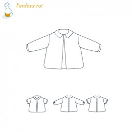 Shirt sewing pattern - Félix L'Enfant Roi from 0 to 14 years old