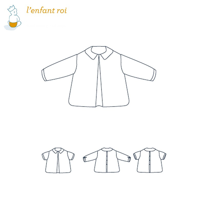 Shirt sewing pattern - Félix L\'Enfant Roi from 0 to 14 years old