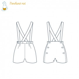 Culotte sewing pattern - Basil L'Enfant Roi from 3 months to 3 yo