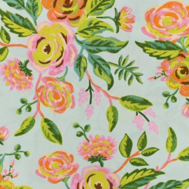 Tissu Cotton Steel Rifle Paper Co. Menagerie - Jardin de Paris mint x 10cm