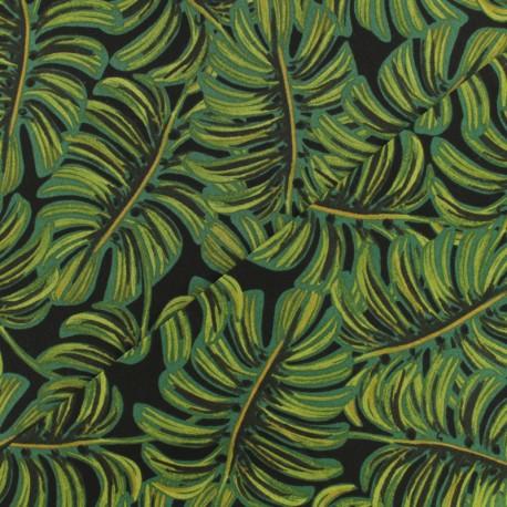 Tissu Cotton Steel Menagerie - Monstera midnight  x 10cm