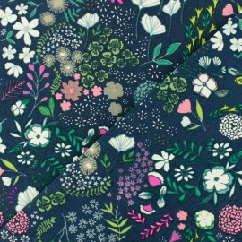 AGF cotton fabric - Blooming ground x 10cm
