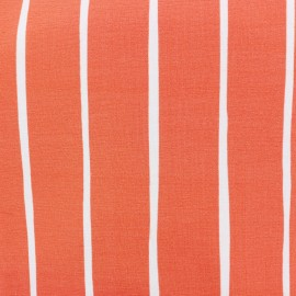 Organic light sweatshirt fabric - coral Rayure x 20 cm