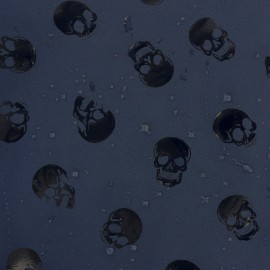 Water-sensitive softshell fabric - navy skull x 10cm