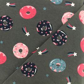 Tissu jersey Donut Madness - gris x 10cm