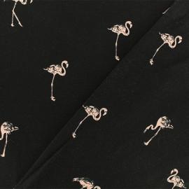 Tissu jersey Flamant rêveur - noir x 10cm