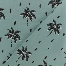 Tissu jersey Palmiers - vert viride x 10cm