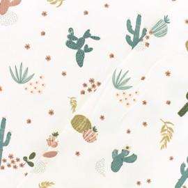 Tissu jersey Désert Flora - écru x 10cm