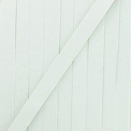8mm Swimwear elastic - white x 1m
