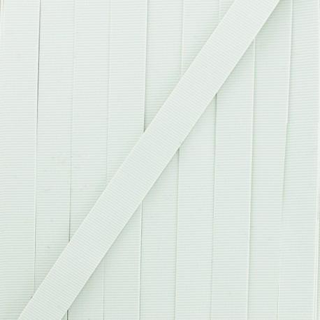 Laminette caoutchouc 8mm - blanc x 1m