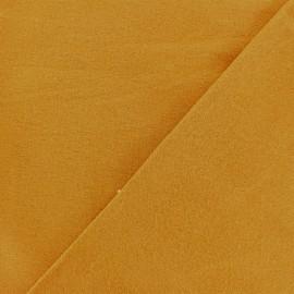 Tissu Flanelle - jaune moutarde x 10cm