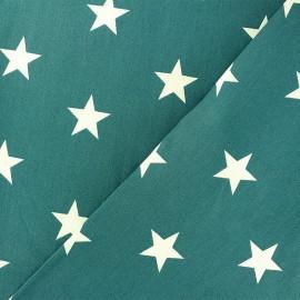 Cotton Fabric - white/pine green Grandes Etoiles x 10cm