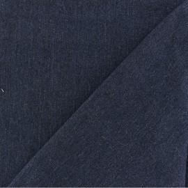 Polycotton jeans fabric - raw blue x 10cm