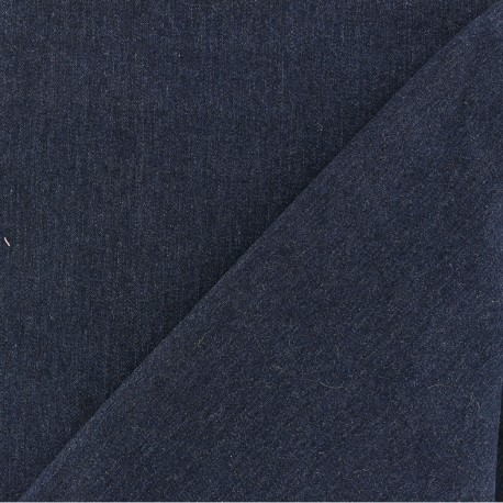 Light polycotton jeans fabric - raw blue x 10cm