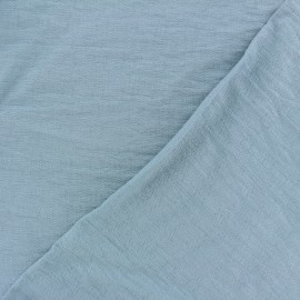 Crinkled Viscose Fabric - smoky blue x 10cm