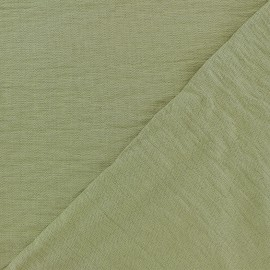 Crinkled Viscose Fabric - lichen green x 10cm