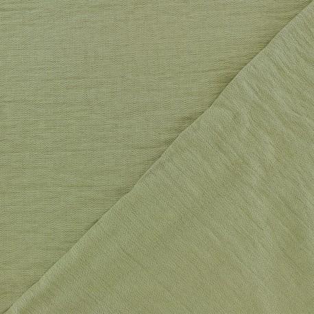 Tissu viscose - vert lichen x10cm