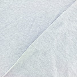 Crinkled Viscose Fabric - pearl grey x 10cm