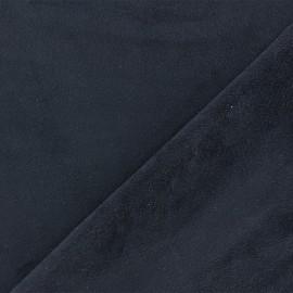 Suede elastane fabric Aspect Daim - navy x 10cm
