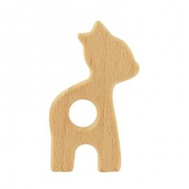 Organic natural wood teething ring - fawn