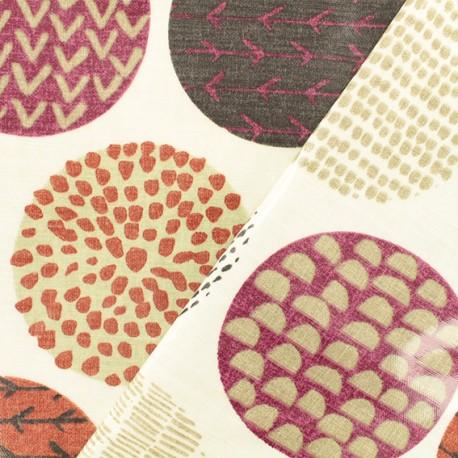 Tissu coton enduit Casa Very Berry - bordeaux x 10cm