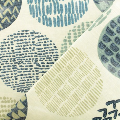 tissu coton enduit casa indigo bleu. Black Bedroom Furniture Sets. Home Design Ideas