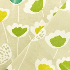 Tissu coton enduit Clara Cactus - vert x 10cm