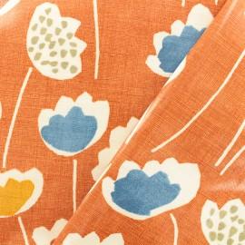 Coated cotton Fabric - orange Clara Mango x 10cm