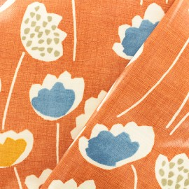 Tissu coton enduit Clara Mango - orange x 10cm