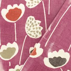 Tissu coton enduit Clara Very Berry - violet x 10cm
