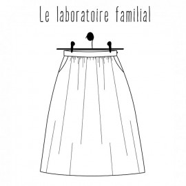 Skirt sewing pattern - Le laboratoire familial Augustine