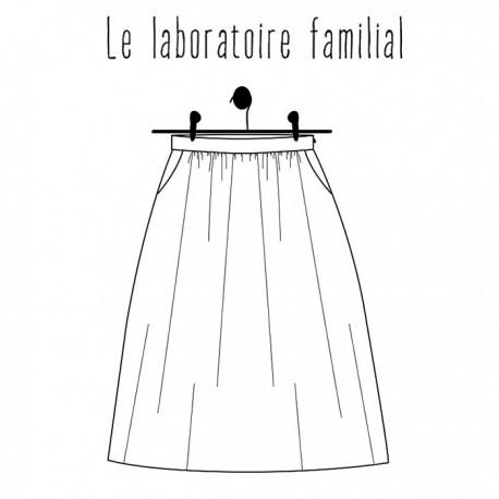 Skirt sewing pattern - Le laboratoire familial Augustine