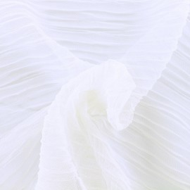 Pleated Tulle Fabric - chantilly Lili x 50cm