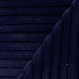 Faux fur fabric - navy blue Mondara x 10cm