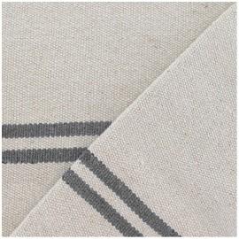 Tissu coton tissé Joséphine gris x 10cm