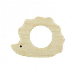 Anneau de dentition bois naturel bio - hérisson
